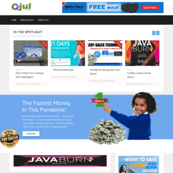 ojul com at WI  Domain For Sale – Short And Catchy Domain Names