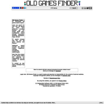 oldgamesfinder com at WI  Old Games Finder - Hard to find    Old