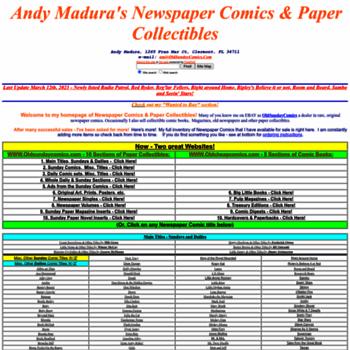 oldsundaycomics com at WI  Andy Madura's Newspaper Comics and Paper