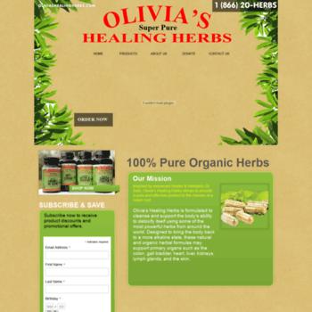oliviashealingherbs com at Website Informer  Home  Visit