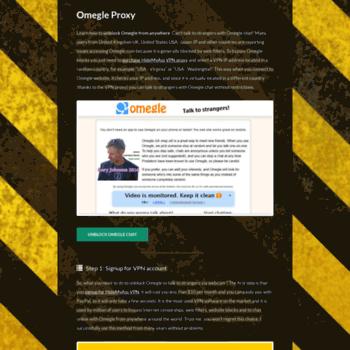 omegleproxy com at WI  Omegle Proxy: Omegle com Unblock, Omegle VPN