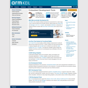 onarm com at WI  Keil Embedded Development Tools for Arm