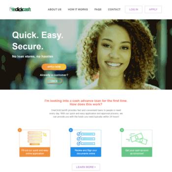 One Click Loan >> Oneclickcash Com At Wi Oneclickcash Online Cash Advance Short