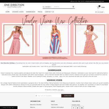 onedirectionclothing com at WI  Wholesale Clothing Suppliers