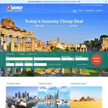 onetravel.insanelycheapflights.com at WI. Cheap Flights - Book Cheap Tickets & Airfare