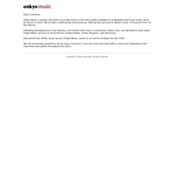 onkyomusic com at WI  Hi Res Music Downloads | HD Audio