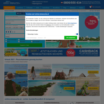 Online-reisesuche.at thumbnail