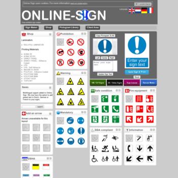 Online Sign At WI V4 Free Printable Safety Maker