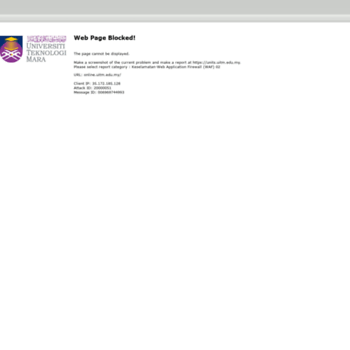 Online Uitm Edu My At Wi Portal Kemasukan Pelajar Universiti Teknologi Mara