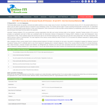 onlineitiresult com at WI  Online ITI Result - ncvtmis gov in iti