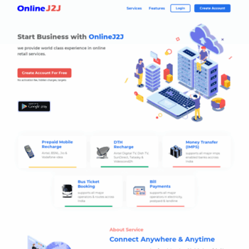 onlinej2j com at WI  OnlineJ2J - Prepaid Airtel Mobile Recharge