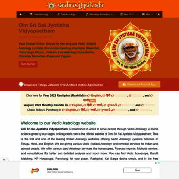 onlinejyotish com at WI  Free Vedic (Indian) Astrology, 2019