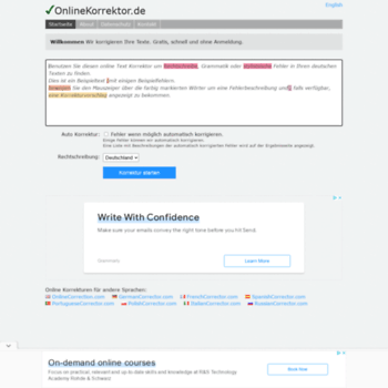 Onlinekorrektor.de thumbnail