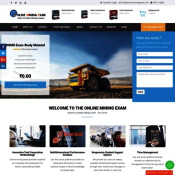 onlineminingexam com at WI  DGMS First Class Second Class
