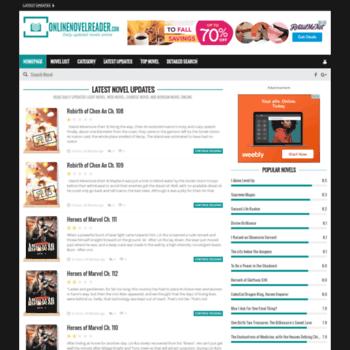 onlinenovelreader com at WI  Biggest light novel library on
