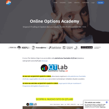 onlineoptionsacademy com at WI  Home | Online Options Academy
