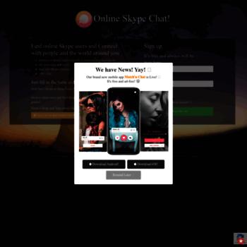 onlineskypechat com at WI  Find Online Skype Users