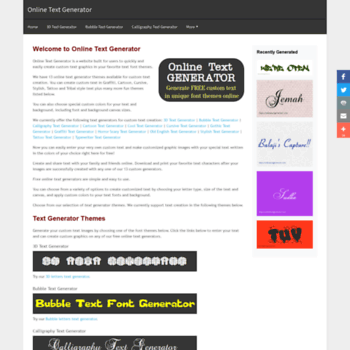 onlinetextgenerator com at WI  Online Text Generator - Free