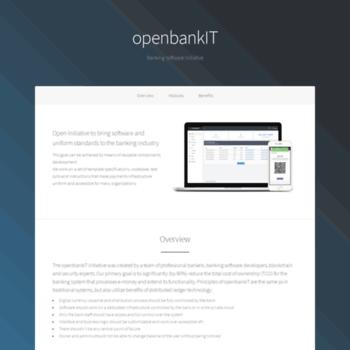 openbankit com at WI  openbankIT — Open-Source Banking Software