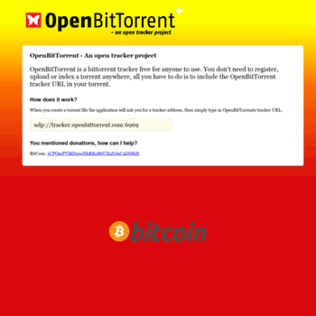 openbittorrent com at WI  OpenBitTorrent - An open tracker