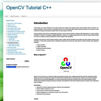 opencv-srf com at WI  Introduction - OpenCV Tutorial C++