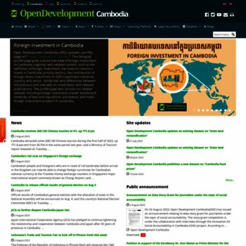 Opendevelopmentcambodia.net thumbnail