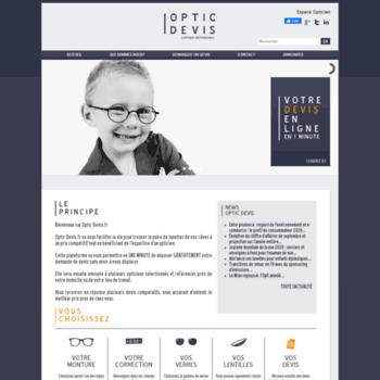 7b2fed19e2b180 Optic-devis.fr thumbnail. Optic Devis - Votre devis optique et lunettes en ligne  entièrement gratuit