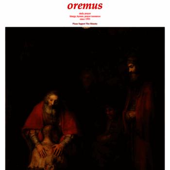 Oremus.org thumbnail
