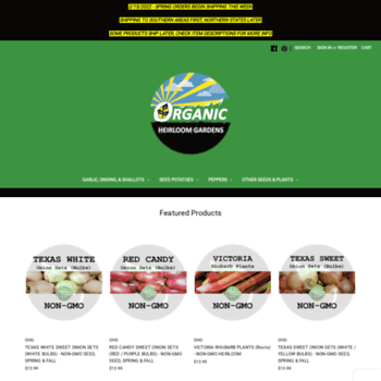Organicheirloomgardens.com thumbnail