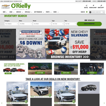 Orielly Chevrolet Tucson >> Orielly Com At Wi O Rielly Chevrolet Tucson Arizona Used