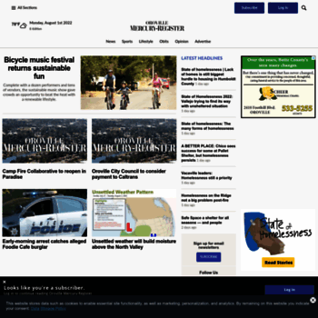 orovillemr com at WI  Oroville Mercury-Register – Oroville