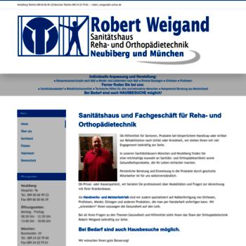 Orthopaedietechnik-weigand.de thumbnail