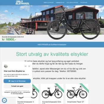 Oslo-elsykkel.no thumbnail