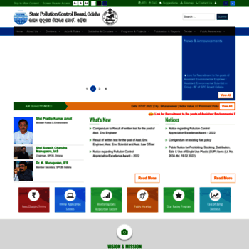 ospcboard org at WI  :: State Pollution Control Board, Odisha