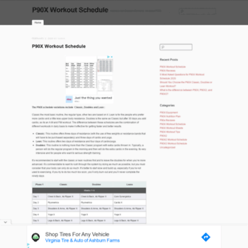 p90xworkoutschedule org at WI  P90X Workout Schedule - Classic, Lean