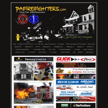 Pafirefighters.com thumbnail