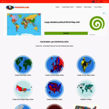 paintmaps com at WI  Create Custom Map Charts with Free, Online Map