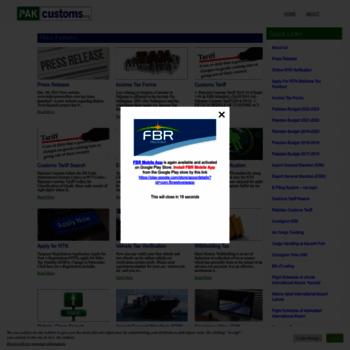 Pakcustoms.org thumbnail