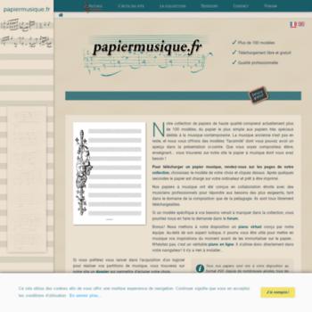 papiermusique.fr at wi. papier musique – le site du papier à musique