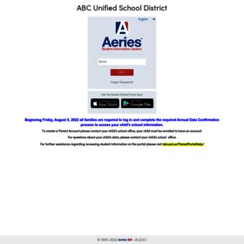 parentportal abcusd us at WI  Aeries: Portals