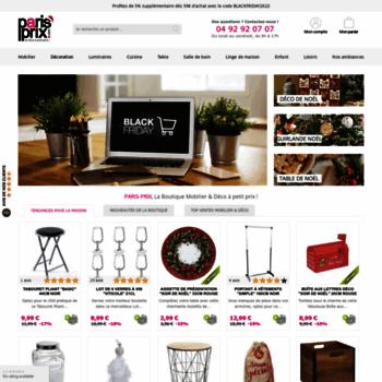 Paris Prix Com At Wi La Boutique Deco Mobilier Pas Cher