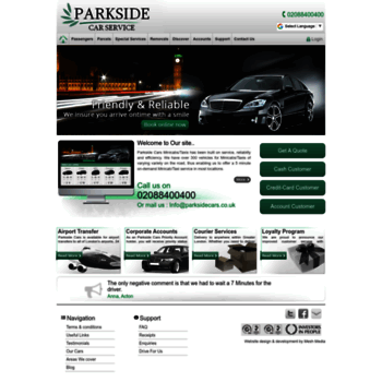 Parksidecarservice Co Uk At Wi Parkside Cars Minicabs London