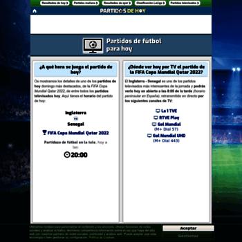 ee7f70ff93bb0 partidos-de-hoy.com at WI. Partidos de hoy - Dónde ver partidos de ...
