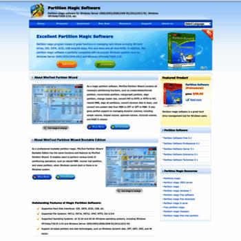 partition-magic com at WI  Free partition magic software