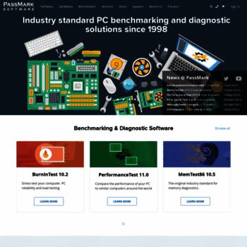 passmark com at WI  PassMark Software - PC Benchmark and
