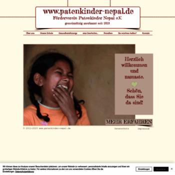 Patenkinder-nepal.de thumbnail