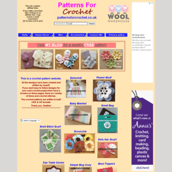 Patternsforcrochet.co.uk thumbnail