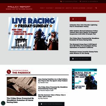 paulickreport com at WI  Horse Racing News | Paulick Report