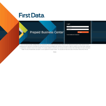 pbc valuelink biz at WI  First Data - Login
