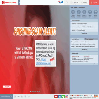 pbebank.com.my at WI. Public Bank Berhad - Personal Banking on